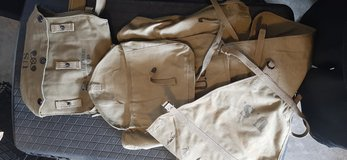 WW2 reenactor backpack (with tail) and gas mask bag in Clarksville, Tennessee