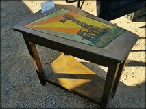 Windmill table (wooden) in Alamogordo, New Mexico