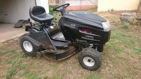Lawn mower tractor in Spangdahlem, Germany