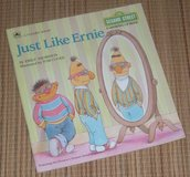 Vintage 1988 Just Like Ernie Sesame Street Growing Up Books Soft Cover in Chicago, Illinois