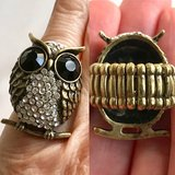 Crystal accent Owl stretch ring in Bartlett, Illinois