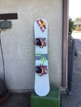 Snow board in 29 Palms, California