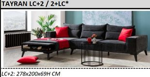 United Furniture - Tayran Sectional in Antharacite including delivery in Spangdahlem, Germany