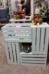 Table made of crates in Clarksville, Tennessee