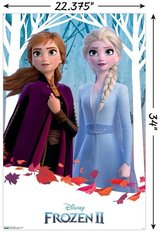 "NEW Disney Frozen 2 DUO Wall Poster, 22.375"" x 34"" in Morris, Illinois"