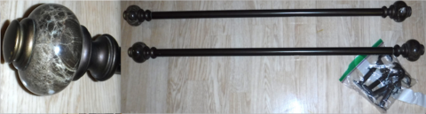 Set of 2 Brown Curtain / Drapery Rods in Orland Park, Illinois