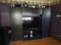 "IKEA Besta Entertainment Center (95"" Long, 76"" Tall, 16"" Deep) in Morris, Illinois"