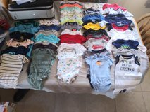 Huge baby boy lot! 0-3 month, some newborn, diapers, and more! in Yucca Valley, California