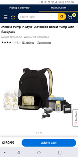 Medela Electric double breast pump in Yucca Valley, California
