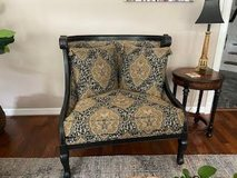 Extra large decorative wingback chair in The Woodlands, Texas