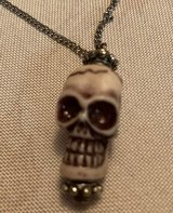 Vintage Skull Necklace on Original Chain Silver in Kingwood, Texas
