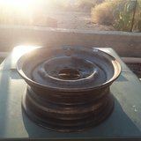 15 inch 6 lug steal trail wheel in Yucca Valley, California
