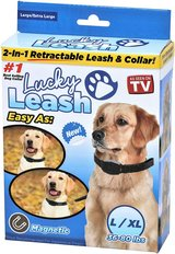 Lucky Leash 2n1 Retractable Leash & Collar- Large/X-Large in Clarksville, Tennessee