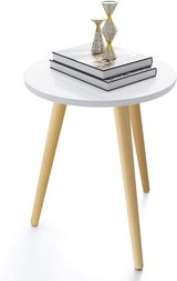 Round White Modern End Table, Side Table, Nightstand - New! - in Joliet, Illinois