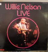 Willie Nelson Live LP Vinyl Record Album 33 RPM in 29 Palms, California