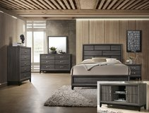 New modern Grey QUEEN bed set in Camp Pendleton, California