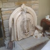 Antique Cast Iron Fireplace Cover in Bartlett, Illinois