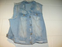 Highway Jeans Sleeveless Destroyed Jean Jacket (T=13) in Fort Campbell, Kentucky