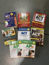 ACT Study Guides and  Barron's AP US History and Calculus Lot of 8 in Plainfield, Illinois
