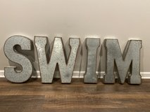 "Metal Letters SWIM 21""x 65"" in Plainfield, Illinois"