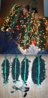9+ Strands - Miniature Christmas Tree Lights + 4 cord Reels + Ext Cord in Joliet, Illinois