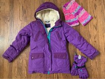 Girls Lands End size 14 coat gloves scarf in St. Charles, Illinois