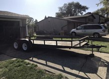 Dual axle 7000 pound capacity electric brakes new tires lights work with title 2 inch call 18 fo... in Plainfield, Illinois
