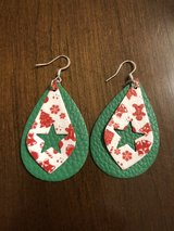 Faux Leather Christmas Earrings in Clarksville, Tennessee