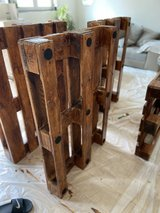 4 Treated and stained pallets outdoor couch in Wiesbaden, GE