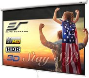 Elite Screens 100-INCH Manual Pull Down Projector Screen - New! in Plainfield, Illinois