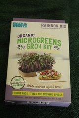 Organic Microgreens Grow Kit- Rainbow Mix by Back to Roots Value Pack NEW! in Camp Lejeune, North Carolina