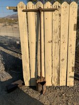 REALLY old post hole digger in Yucca Valley, California