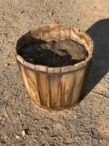 redwood planter in Yucca Valley, California