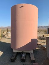 2000gal steel water tank in Yucca Valley, California