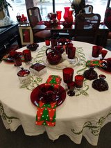 Ruby red cranberry glass in Bartlett, Illinois