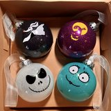 Nightmare Before Christmas Set of 4 Boxed Ornaments New in Travis AFB, California