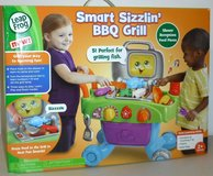 New! Leap Frog Smart Sizzlin' BBQ Grill Learning Toy incl Food & Utensils in Orland Park, Illinois