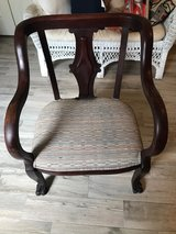 Solid wood antique chair Reduced, was 50.00 in The Woodlands, Texas