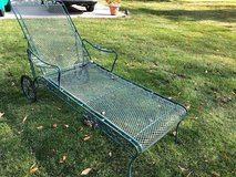 Wrought Iron chaise Lounge with wheels in Joliet, Illinois