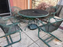 Wrought iron Table and 4 chairs in Joliet, Illinois