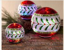 Lighted Christmas Ball Set in The Woodlands, Texas