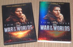 War of the Worlds DVD w Slip Cover Tom Cruise in Yorkville, Illinois