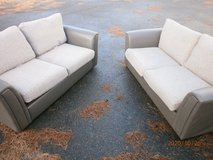 2 x 2 SEATER SETTEES ONE WITH PULL OUT BED in Lakenheath, UK