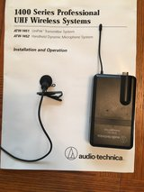 Two AUDIO TECHNICA ATW-1451  1400 SERIES WIRELESS LAVALIER MICROPHONE SYSTEMS in Bartlett, Illinois