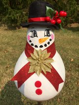 A Snowman Gourd in Fort Knox, Kentucky