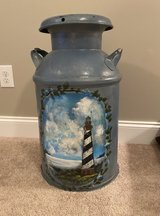 Antique Painted Milk Can in Warner Robins, Georgia