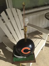 Chicago Bears lamp with astro turf dated 1988 in Orland Park, Illinois