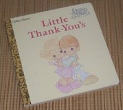 Vintage 1997 Precious Moments Little Golden Board Book Little Thank-You's Naptime Tale in Joliet, Illinois
