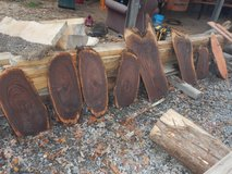walnut  end pieces and spalted maple slabs in Fort Campbell, Kentucky
