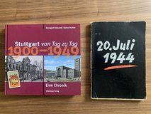Two books '20 July 44' and 'Stuttgart day to day 1900-1949' in Stuttgart, GE